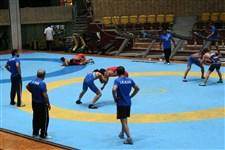 تمرین مشترک تیم های ملی کشتی آزاد جوانان و بزرگسالان گزارش تصویری13